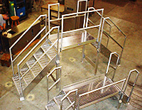 Custom Stainless Steel Platforms and Walkovers